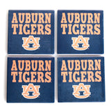 Auburn Tigers Navy 4 Pack Coaster Set