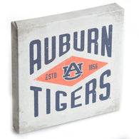 Auburn Tigers Diamond White 9x9 Canvas