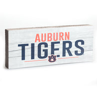 Auburn Tigers AU Logo 2.5x6 Sign in White