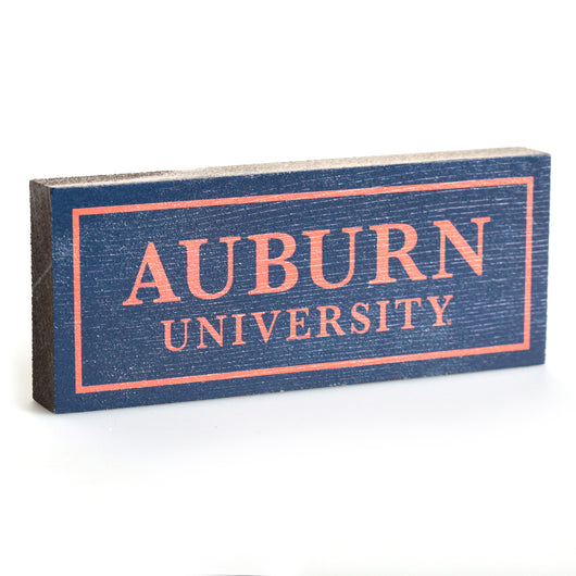 Auburn University Navy 2.5 x 6 Sign