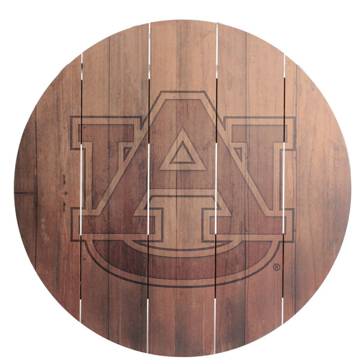 Auburn AU Logo Natural Barrel Top Sign