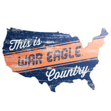 War Eagle Country USA Cut Out Sign