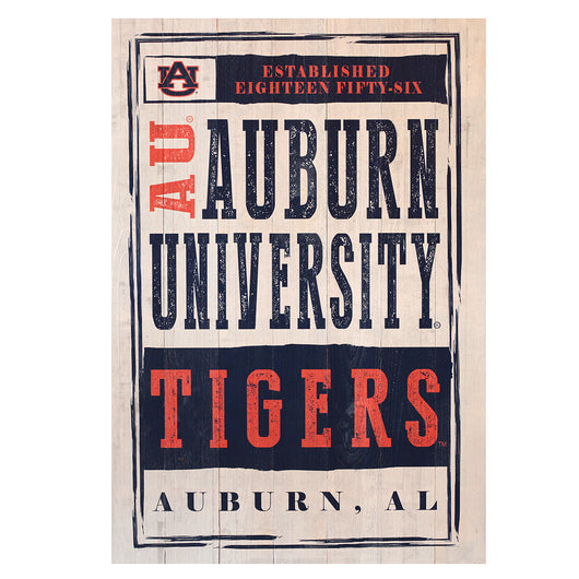 Auburn Chronicle 25x36 Sign on White