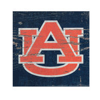 AU Logo on Navy Wood 3