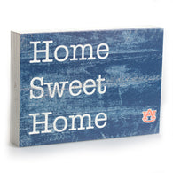 Home Sweet Home w/ AU Logo 10x7 Box Sign