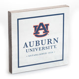 Auburn University White 5.5x5.5 Sign