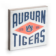 Auburn Tigers White Diamond Tabletop Sign