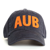 Navy AUB Hat with Auburn on Back
