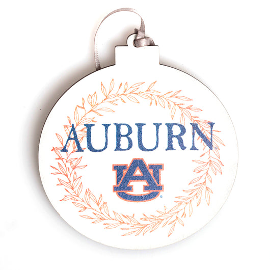 Auburn Laurel Wooden Ornament