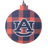 Plaid AU Logo Wooden Ornament