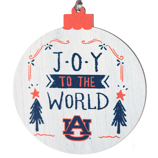 Joy the the World AU Wooden Ornament