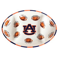 Auburn Football Sectioned Platter