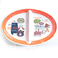 Auburn Heavy Melamine Two Section Platter