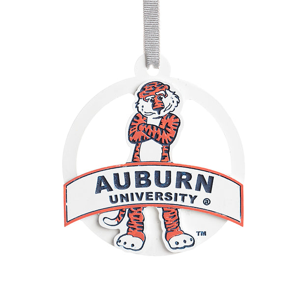 Aubie with Attitude Banner Ornament