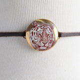 Choker with Tiger Charm