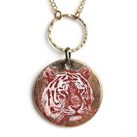 Gold Circle Tiger Necklace