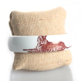Porcelain Bangle Bracelet w/Tiger