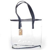 Navy Clear Stadium Tote