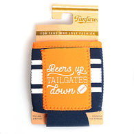 Orange & Navy Beers Up Pocket Koozie