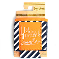 Orange & Navy Kickoff O'Clock Pocket Koozie