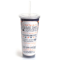Orange & Navy Gameday Loving Sipper Tumbler
