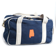 Auburn State Overnight Bag with Gingham Lining