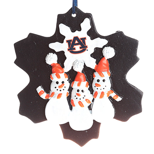 Auburn Triple Snowman Ornament