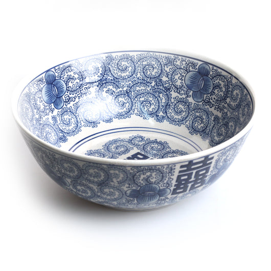 Blue & White Ceramic Yiwu Large Bowl