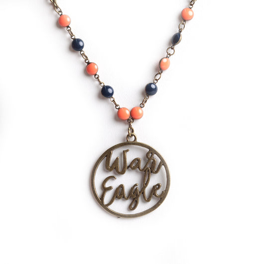 Auburn Slogan Necklace