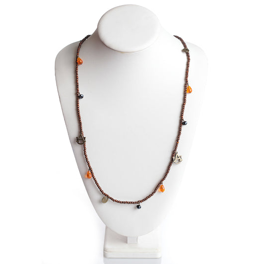 Wood Bead Stretch Necklace