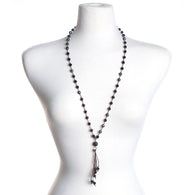 Navy Gameday Crystal Necklace