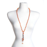 Orange Gameday Crystal Necklace