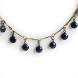 Navy Bead Necklace