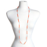 Orange Crystal Stretch Necklace/Bracelet