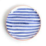 Porto Stripe Dinner Plate in Blue