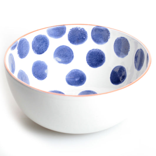 Porto Large Salad Bowl in Blue