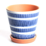 Porto Striped Small Flower Pot