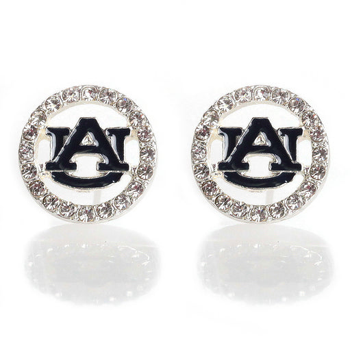 AU Crystal Circle Stud Earrings