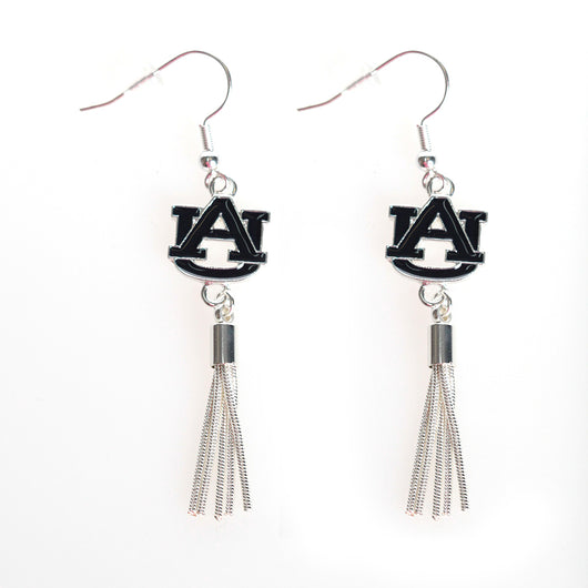 Auburn Metal Tassel Earrings