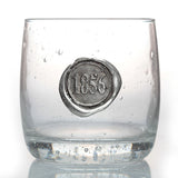 1856 Stamp Double Old Fashioned Glass