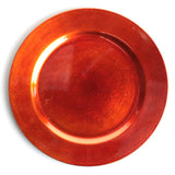 Orange Metallic Charger Plate