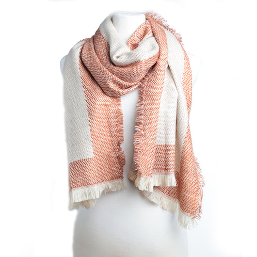 Banded Boarder Scarf