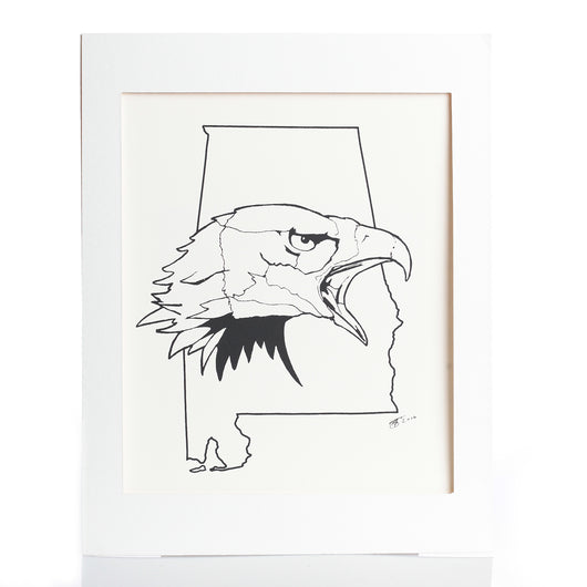 Eagle State Black and White Print