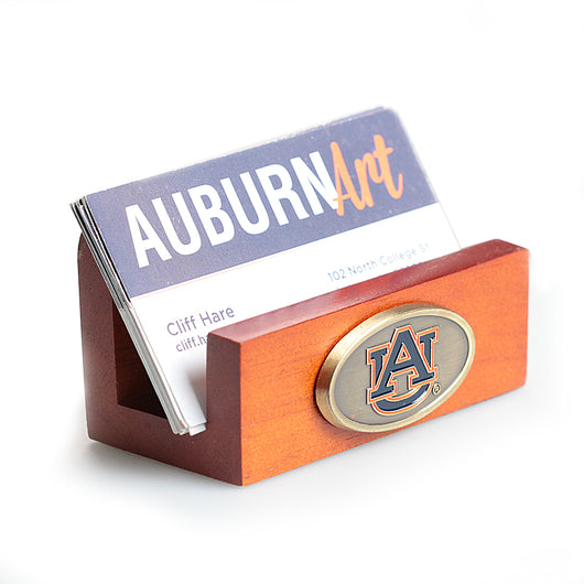 Auburn Wooden Business Card Holder