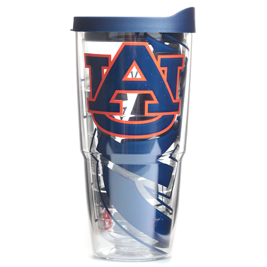 Auburn 24oz Genuine Wrap Tervis with Lid