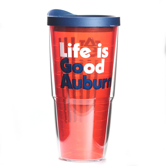 Auburn 24oz Life is Good Tervis Tumbler with Lid