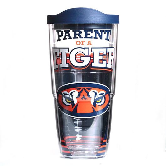 Auburn 24oz Parent of a Tiger Tervis Tumbler with Lid
