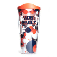 War Eagle Polka Dot 24oz Tervis Tumbler