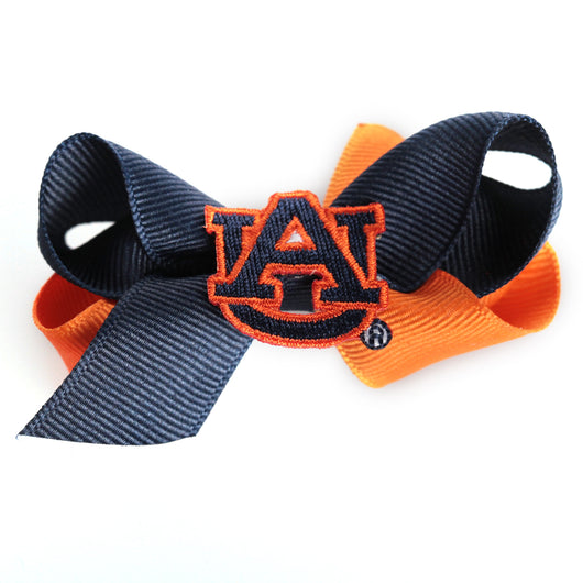 Two Tone Hairbow with Logo