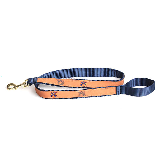 Leather Dog Leash in Navy